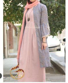 مدل مانتو سنتی 98 Iranian Women Fashion, Arab Fashion, Muslim Fashion, Womens Fashion, Modele Hijab, Modern Hijab Fashion, Pakistani Dresses Casual, Stylish Clothes For Women, Fashion Dresses