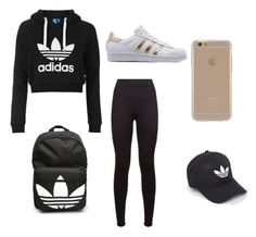 """Untitled #4"" by chritmastumblr on Polyvore featuring adidas Originals, adidas and Agent 18"