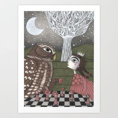 Once Upon a Time by Judith Clay. I'd love this to hang on the wall in my little one's room.