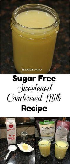 Sugar Free Sweetened Condensed Milk Recipe requires only 3 ingredients via @isavea2z