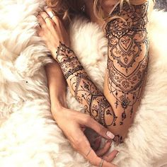 Billedresultat for lace sleeve tattoos for women