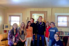 Key Clubbers at the Ronald McDonald House in Colorado Springs. 3 high schools' Key Clubs were represented. You can see me, in the mirror behind the students, taking the picture.
