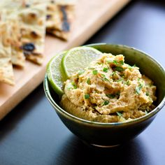 Roasted Jalapeno & Lime Hummus | One jalapeño if you like a little tingle on your tongue. Two if you're feeling feisty. Three jalapeños and you'd better make sure there's plenty of cold beer nearby because you're talking about some serious fire. | From: thekitchn.com