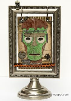 Layers of ink - Embossed Monster Flip Frame by Anna-Karin