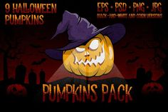Halowen Pumpkins Pack by DreamBikeShop on @creativemarket