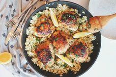 Receta de pollo con ajo y jengibre