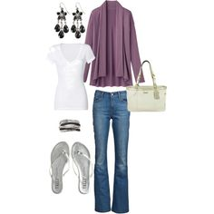 This is my first Polyvore set.  I titled it... Running Errands.  As a SAHM, I always go for comfort.