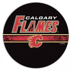 Calgary Flames Chrome Bar Stool with Swivel NHL Hockey Officially Licensed Art #TrademarkGameroom