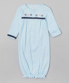 Blue Baseballs Pointelle Gown - Infant #zulily #zulilyfinds