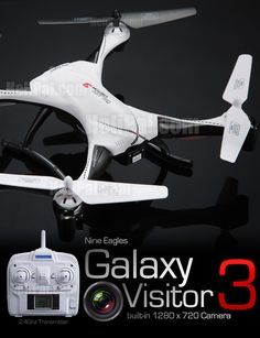 Nine Eagles Galaxy Visitor 3 Drone - http://www.helipal.com/nine-eagles-galaxy-visitor-3-drone.html