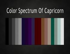 This is frighteningly accurate as far as colors I like best.