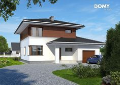 Projekt domu: Karmazyn - Widok od frontu