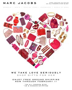 Marc Jacobs V-Day email design