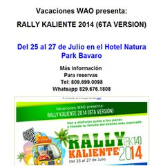 RALLY KALIENTE 2014 (6TA VERSION)