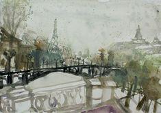 Related image Gouache, Urban Sketching, Landscape Paintings, Landscapes, Watercolor, Paris, Image, Artworks, Watercolor Painting