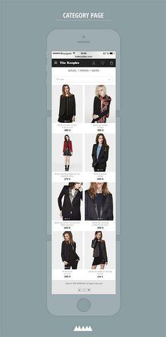 The kooples redesign concept - mobile version V2   Design: UI/UX. Apps. Websites   Léo Sestier  