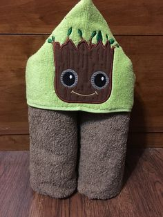 A personal favorite from my Etsy shop https://www.etsy.com/listing/243937578/baby-tree-man-hooded-towels