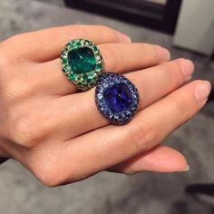 JAR rings - for sale Geneva Jar Jewelry, Gems Jewelry, Jewelry Accessories, Fine Jewelry, Jewelry Design, Emerald Jewelry, Diamond Are A Girls Best Friend, Cocktail Rings, Vintage Jewelry