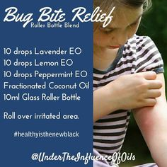 Man o man...I hate bugs! Mosquitoes are my nemesis and their bites make me swell up. Thank goodness for essential oils. They take away the itch and a lot of the time the swelling disappears too! Please tag a friend who loves essential oil recipes. #healthyisthenewblack