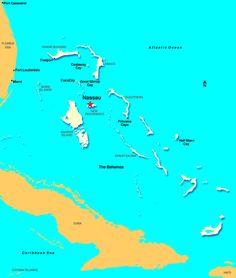 Nassau Bahamas Map