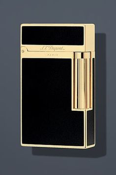 S.T. Dupont Ligne 2 Lacquer Lighter - Black/Gold 16884 by S.T. Dupont,