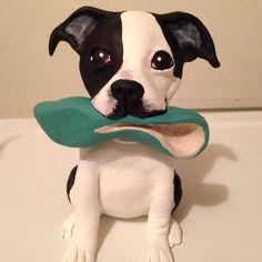 Custom Dog Sculpture by WolfsFolkArt on Etsy