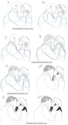 How To Draw Two People Hugging Drawing Hugs Step By Step Drawing