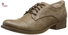 Mustang 1167301, Derby femme, Marron (318 Taupe), 37 EU - Chaussures mustang (*Partner-Link)
