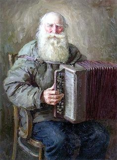 """Russian Accordion Player"" by Alexey Shalaev, 2006"
