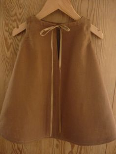 Cute  linen brown baby  dress.Size 18M/24M. by AvalondesignsNL www.etsy.com/shop/AvalondesignsNL