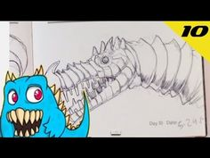 Daily Monster Sketch Journal - Day 10  #sketchmonster #easypicturestodraw   #coolstufftodraw   #howtodrawcoolthings    #funthingstodraw