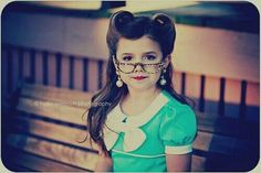 Victory rolls for little girls