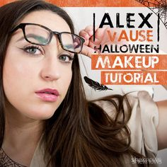 Alex Vause makeup for the easiest Halloween costume ever.