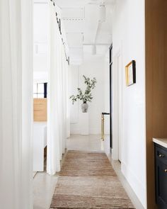 Your hallway, too, deserves some classic, matched it with a natural-colored rug. Beige Area Rugs, Verona, Colorful Rugs, Interior Design, Our Love, Drapery, Window Treatments, Overalls, Windows