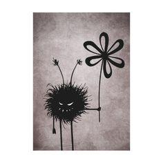 Evil Flower Bug Vintage Canvas #Print $95.95 #art