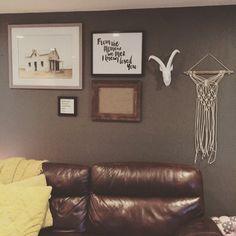 Macrame wall hanging from Fall & Found. #fallandfound #macrame #wallhanging #happycustomer