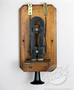 This box telephone, which was previously used at Lloyds signal station in Crookhaven, represents one of Alexander Graham Bell´s earliest e. Alexander Graham Bell, Antique Phone, Bees Knees, Telephone, Bookends, Barware, Old Things, Stock Photos, Antiques