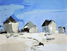 Sandra Pratt | Blue Sky and Silo | Oil on Linen