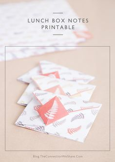 Make lunch box notes more fun by folding it into an envelope for your kids to open . You can download these printable lunch notes for free and the origami instructions are included.