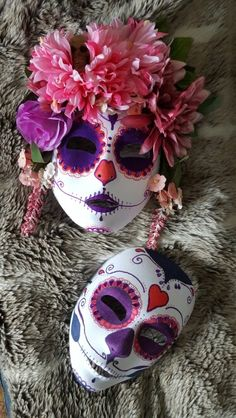 e5b4b86a28 Day in the Dead masks handmade by ShazzaRonnie