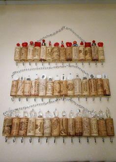 Wine Cork Necklace Organizer TagsThoughts Wine cork jewelry