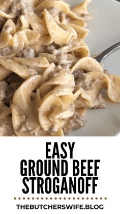 Fast and Easy Ground Beef Stroganoff is comfort food meant for kids! This dish has a creamy sauce with ground beef paired with the tender noodles.