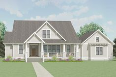 3-Bed Country Home Plan with Open Concept Core - 130012LLS | Architectural Designs - House Plans