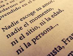 "Frases que aparecen en libros. ""Francisca, yo te amo"". José Luis Rosasco"