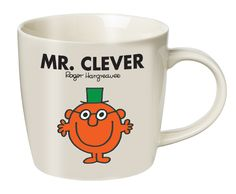 Mr Clever mug. Reads 'Mr Clever was quite the cleverest person ever. The cleverest person in the world! Oh, I am so very very CLEVER, he used to say.' on reverse. £6.95