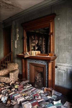 Such a sad photo; all the abandoned books. Sniff.....