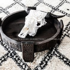 Moroccan Ethnic vibes.... Beni Ourain & hand carved Chakki table. www.shop.zocohome.com