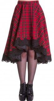 Hell Bunny Lucine Skirt in Tartan Blame Betty