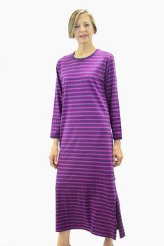 Ristomatti Ratia Striped Gown Lilac/Dark Pink