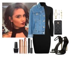 """""""Untitled #3"""" by larnyssxo on Polyvore featuring beauty, Chanel, Charlotte Tilbury, OPI, FOSSIL, Rumour London and Topshop"""